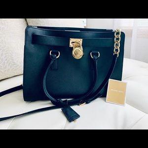 NWT Michael Kors Leather Hamilton satchel purse